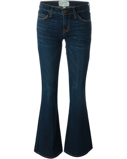 Current/Elliott   Blue 'the Low Bell' Jeans   Lyst