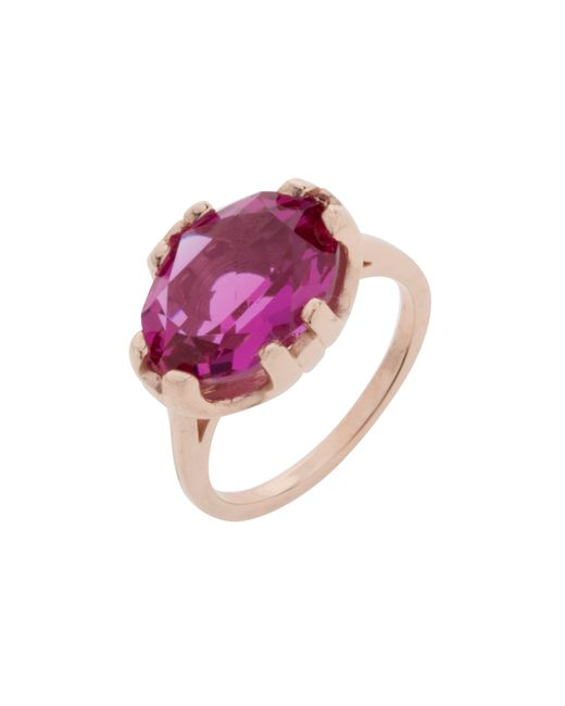 Cabinet | Purple Rose Gold Plated Swarovski Crystal Beetle Oval Ring | Lyst