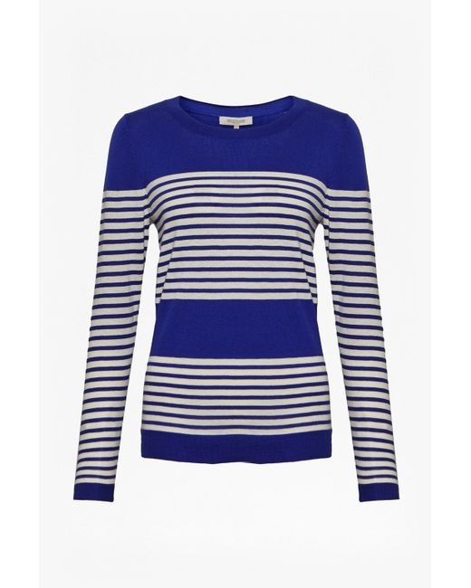 Great Plains | Blue Betty Stripe Scoop Neck Top | Lyst