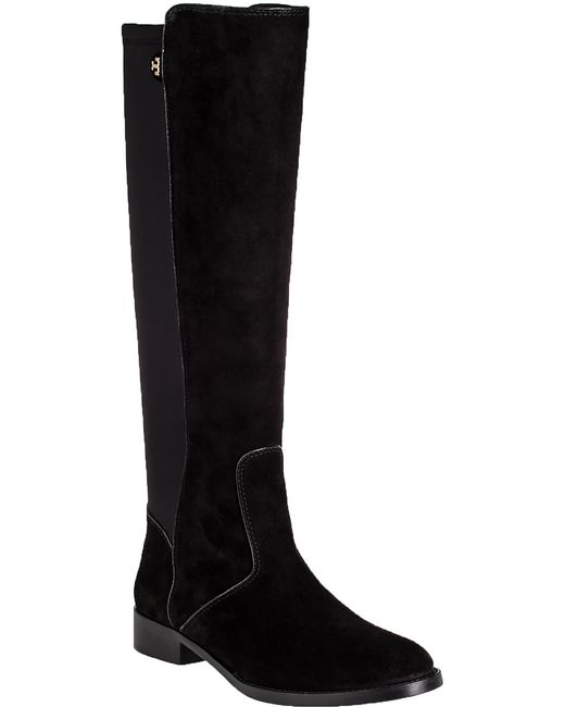 burch seldon suede boots in black black suede