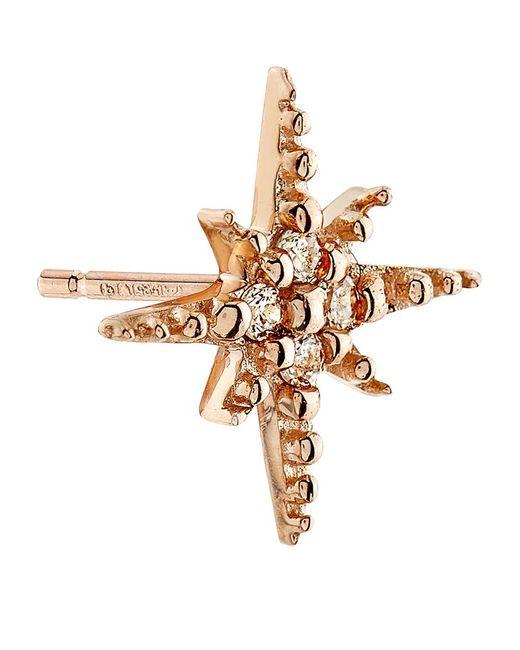 Sydney Evan | Metallic Mini Starburst Stud Earring | Lyst