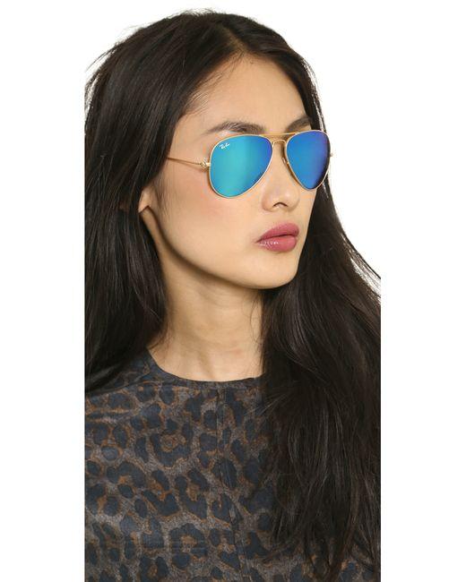 Mirrored Aviator Sunglasses Ray Ban