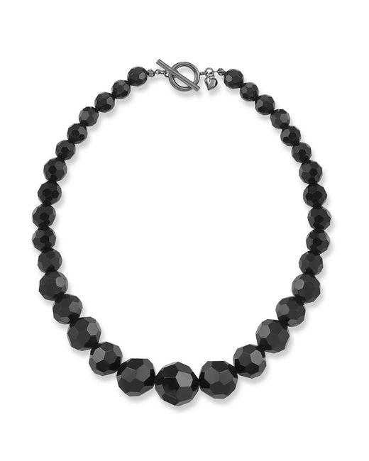 Carolee   Black Jet Crystal Beaded Necklace   Lyst