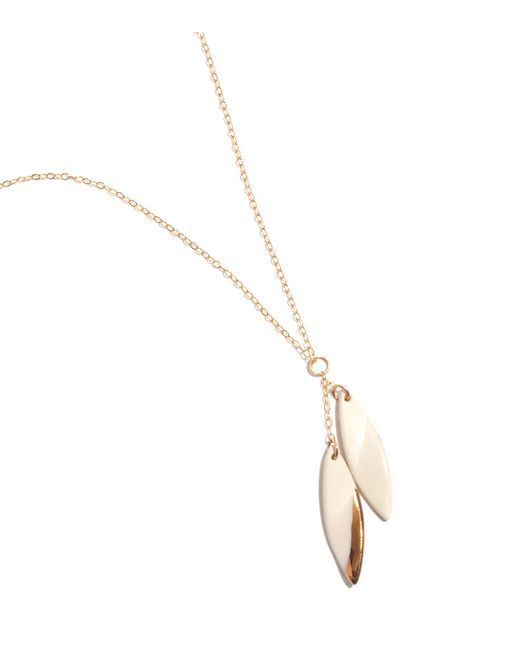 Melissa Joy Manning | Metallic Double Leaf Necklace By Zoe Comings | Lyst