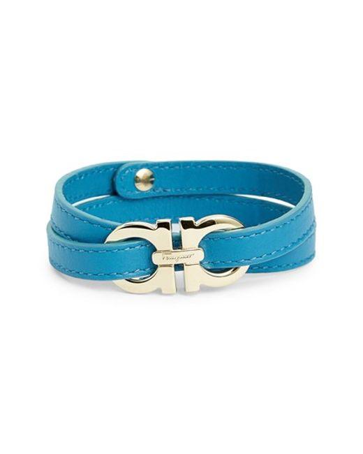 Ferragamo   Blue Double Gancio Bracelet   Lyst