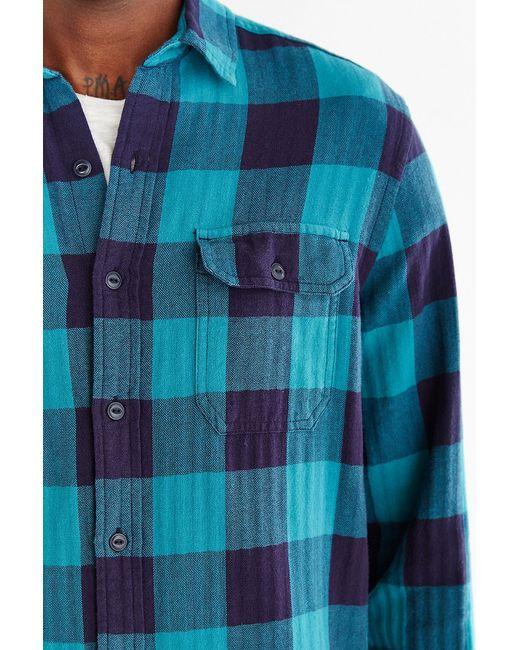 Stapleford Herringbone Buffalo Plaid Flannel Workshirt In