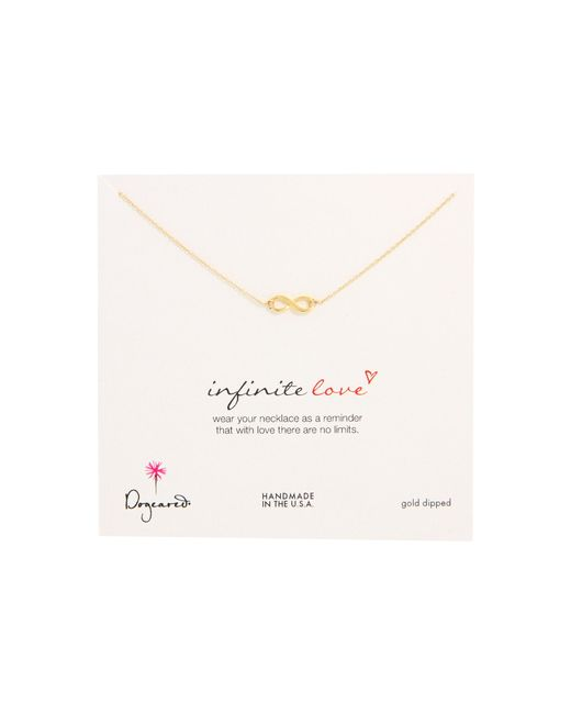 Dogeared | Metallic Infinite Love Necklace 16"