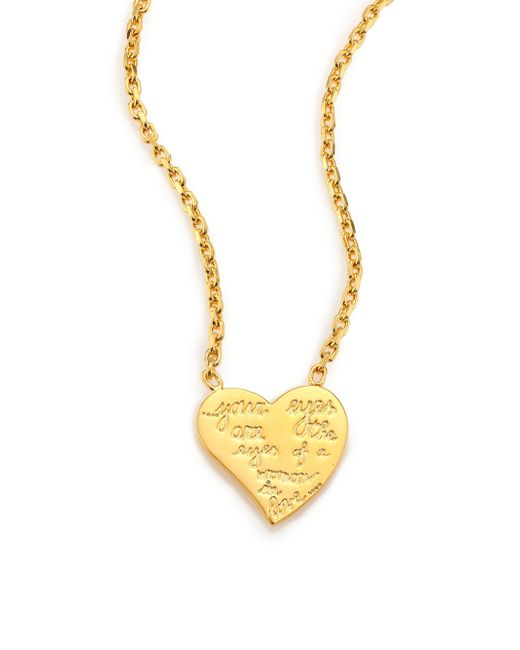 Valentino | Metallic L'amour Heart Pendant Necklace | Lyst