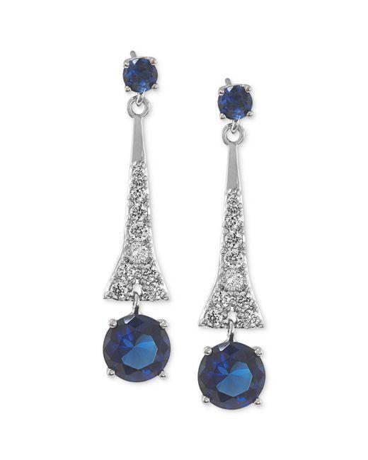 Carolee | Metallic Crystal Linear Earrings | Lyst