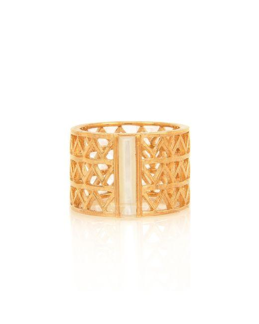 Alexandra Alberta | Metallic Guggenheim Pearl Ring | Lyst