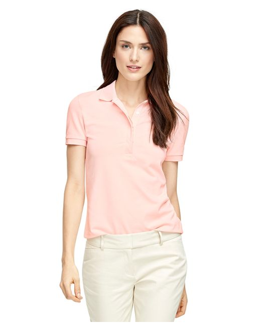 Brooks Brothers   Pink Short-sleeve Slim Fit Polo Shirt   Lyst
