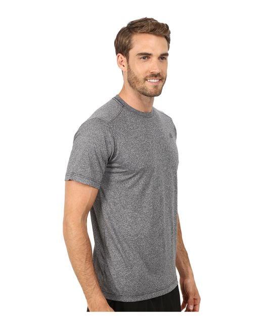 New Balance | Gray Short Sleeve Heather Tech Tee for Men | Lyst