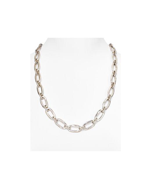 "Uno De 50   Metallic Chain Link Necklace, 24""   Lyst"