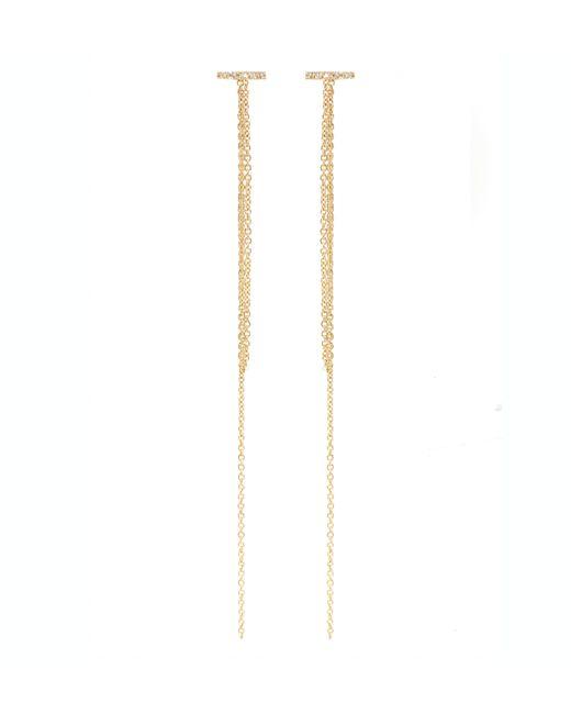 Zoe Chicco | Metallic 14k Pave Chain Fringe Studs | Lyst