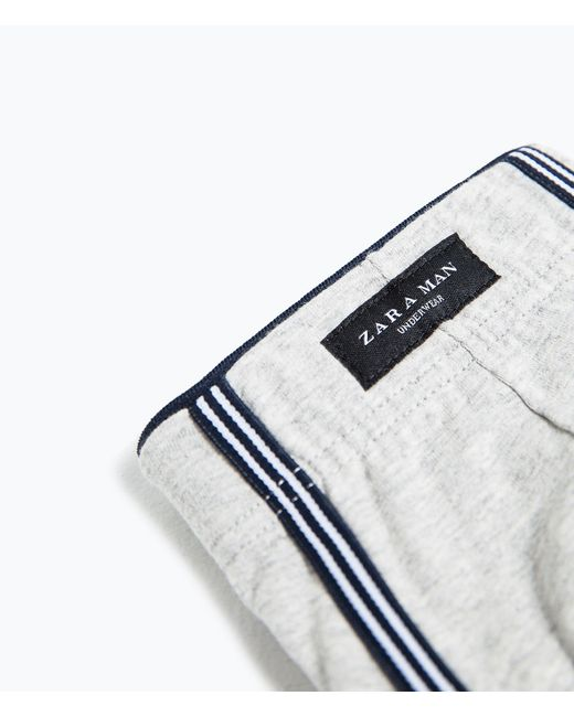 Zara | Gray Boxers With Contrast Waistband for Men | Lyst