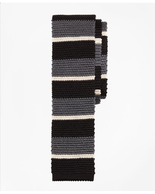 Brooks Brothers | Black Bold Stripe Knit Tie for Men | Lyst