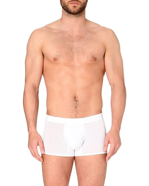 La Perla | White Branded Trunks for Men | Lyst