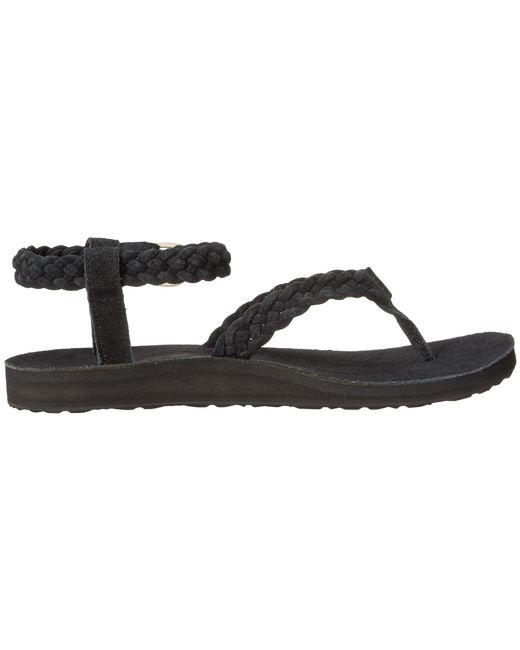 Teva | Black Original Sandal Suede Braid | Lyst