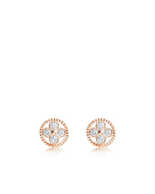 Louis Vuitton | Diamond Blossom Bb Ear Studs, Pink Gold And Diamonds | Lyst