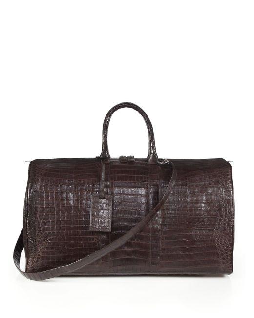 Santiago Gonzalez | Brown Crocodile Weekender Bag | Lyst