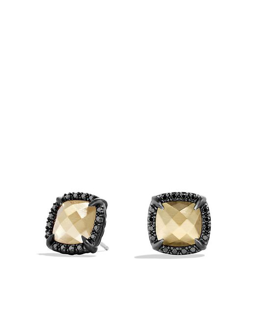 David Yurman | Châtelaine Earrings With 18k Gold Dome And Black Diamonds | Lyst
