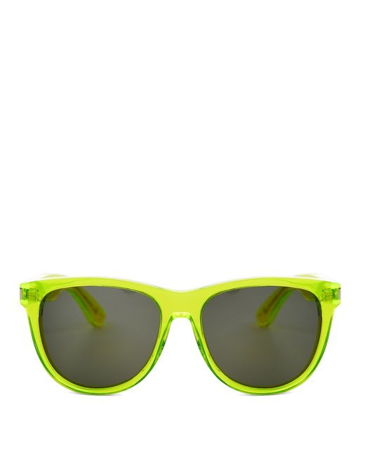 Glasses With Yellow Frame : Saint laurent D-frame Sunglasses in Yellow Lyst