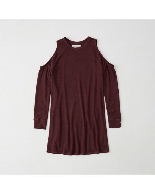 Abercrombie & Fitch - Multicolor Cold-shoulder Top - Lyst