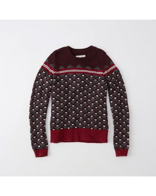 Abercrombie & fitch Fair Isle Sweater | Lyst