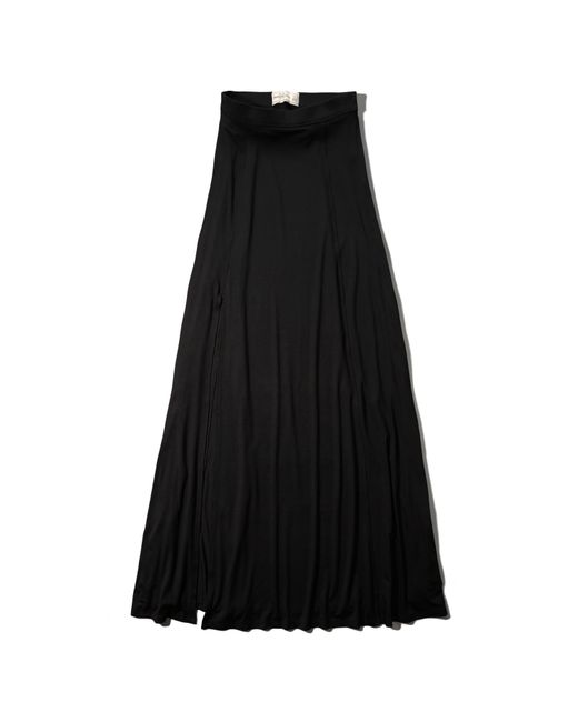 abercrombie fitch knit maxi skirt in black save 40 lyst