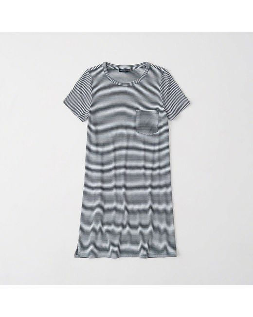Abercrombie & Fitch - Gray Pocket T-shirt Dress - Lyst