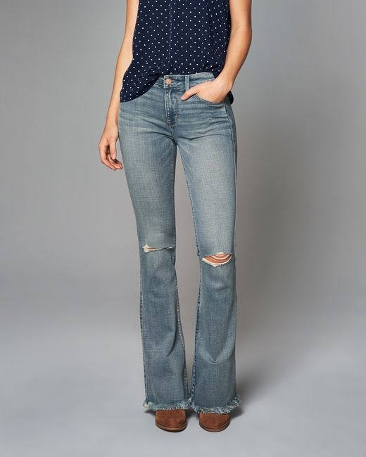 Abercrombie & fitch Skinny Flare Jeans - Save 83% | Lyst