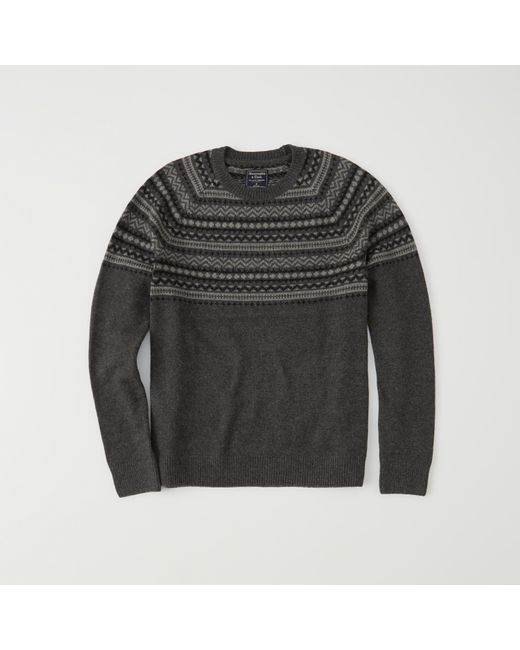 Abercrombie & fitch Fairisle Sweater Exchange Color / Size in Gray ...