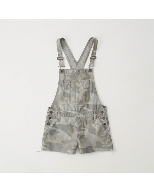 Abercrombie & Fitch - Gray Camo Shortalls - Lyst