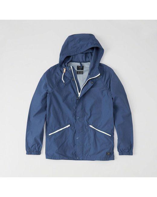 Abercrombie & Fitch - Blue Windbreaker Jacket for Men - Lyst