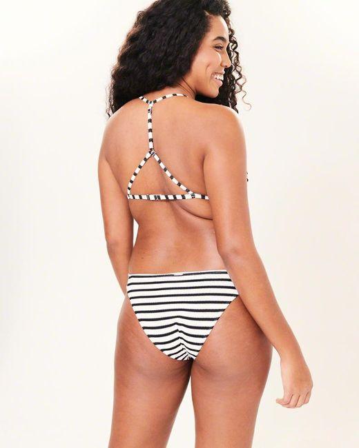 617e30cf57c65 ... Lyst Abercrombie   Fitch - Black A f Textured Racerback Triangle Bikini  Top ...