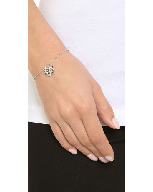 KENZO | Metallic Mini Tiger Bracelet | Lyst