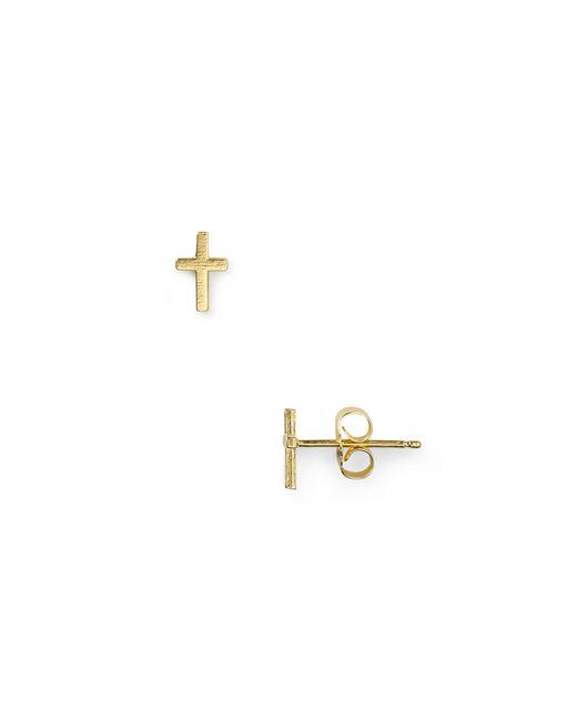 Dogeared | Metallic Simple Cross Earrings | Lyst