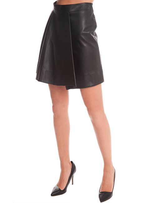3 1 phillip lim rounded fold leather skirt in black save