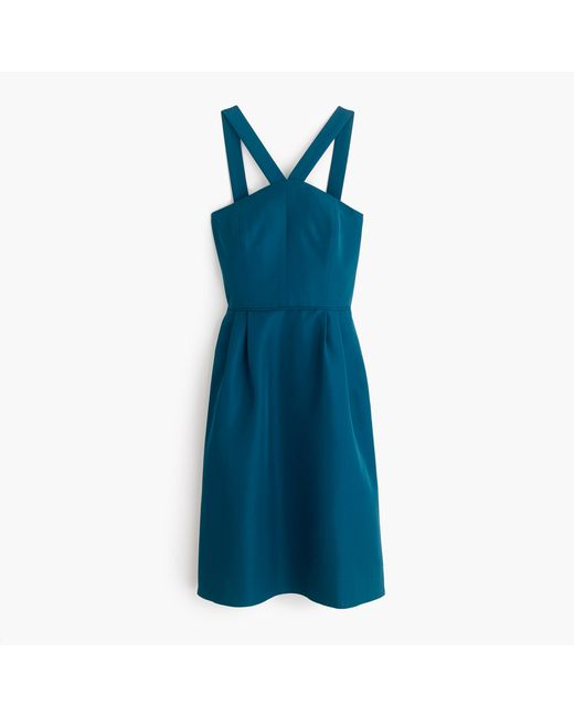 J.Crew | Blue Lexie Dress In Classic Faille | Lyst