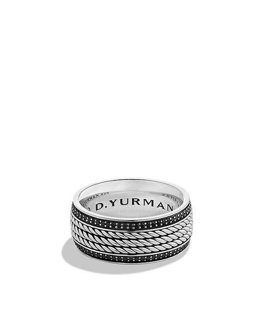 David Yurman | Maritime Rope Band Ring With Black Diamonds for Men | Lyst