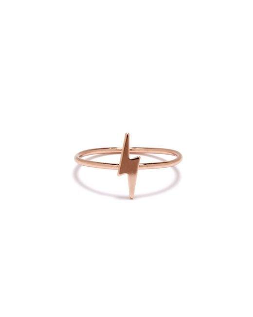 Bing Bang | Pink Lightning Bolt Ring | Lyst