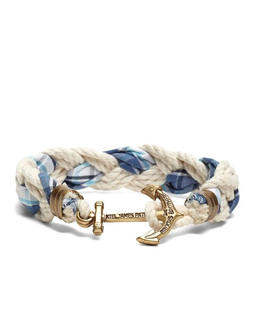 Brooks Brothers   Blue Kiel James Patrick Seersucker Plaid Braided Bracelet for Men   Lyst