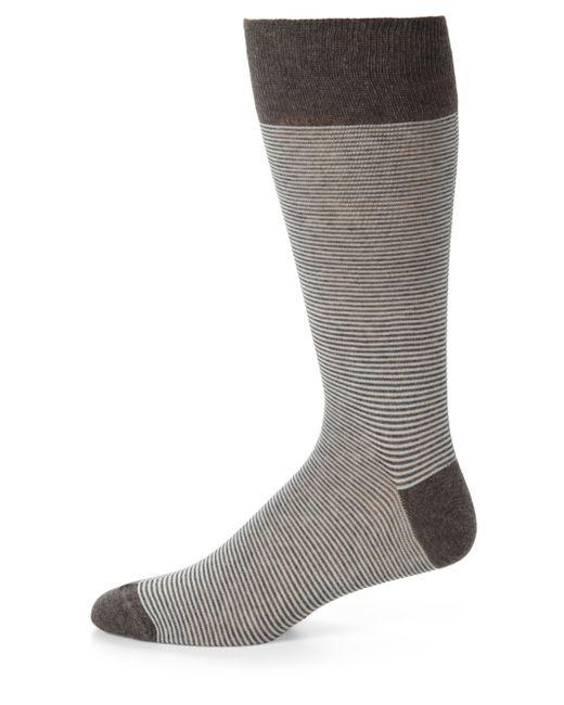 Saks Fifth Avenue | Gray Striped Cotton-blend Dress Socks for Men | Lyst