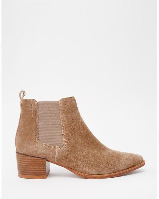vagabond emira beige suede ankle boots in brown beige lyst. Black Bedroom Furniture Sets. Home Design Ideas