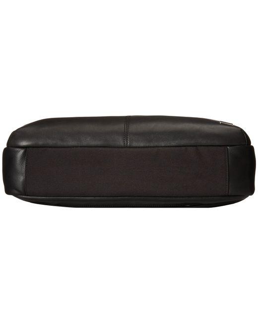 Knomo | Black Newbury Leather Laptop Briefcase for Men | Lyst