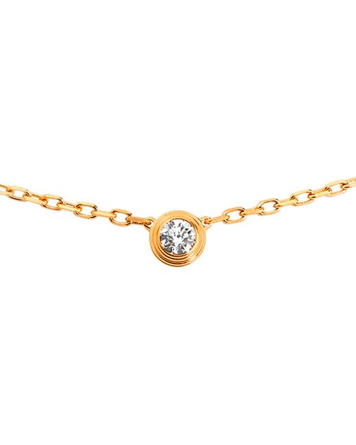Cartier | Diamants Légers De 18ct Pink-gold And Diamond Necklace | Lyst
