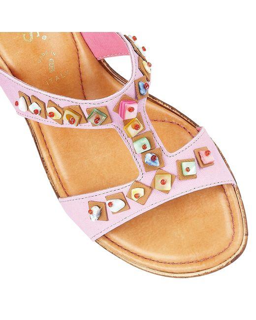 Lotus   Purple Loretta Wedge Sandals   Lyst