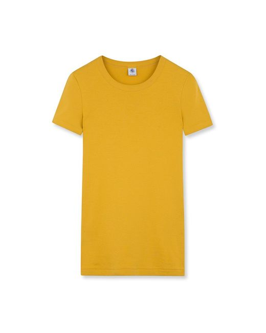 Petit Bateau | Yellow Women's Iconic Plain Round Neck T-shirt | Lyst