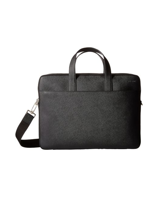 Jack Spade | Black Barrow Leather Slim Brief for Men | Lyst