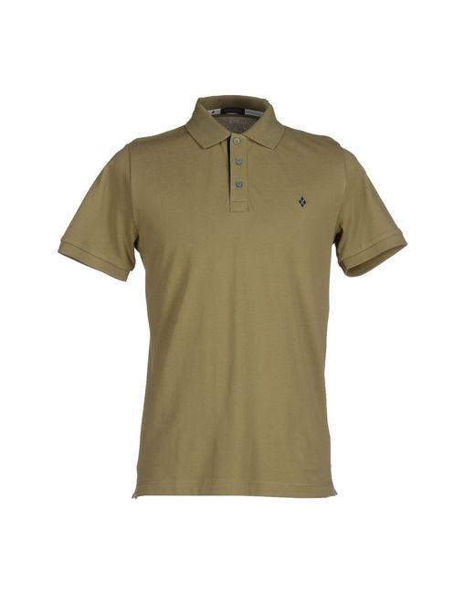 Ballantyne polo shirt in green for men emerald green lyst Emerald green mens dress shirt